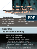 The Investment Settings Chapter 1
