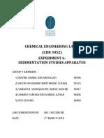 Sedimentation Studies Apparatus