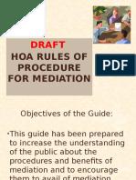 Draft HOA Rules of Procedure on Mediation