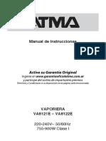 Manual Vaporiera Atma