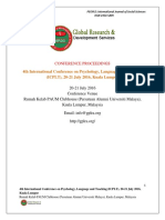 Proceedings of 4th International Conference on Psychology, Language and Teaching (ICPLT) , MALAYSIA 2016