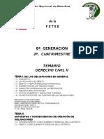Temario Derecho Civil II inesap