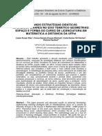 AVALIANDO ESTRATÉGIAS DIDÁTICAS INTERDISCIPLINARES NO EIXO TEMÁTICO GEOMETRIAS