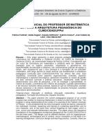 A FORMAÇÃO INICIAL DO PROFESSOR DE MATEMÁTICA EM FOCO