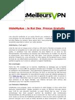HideMyAss Le Roi Des Proxys Gratuits