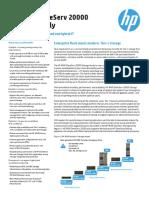 HP 3PAR StoreServ 20000 Datasheet