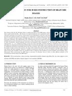 Literature Survey for 3d Reconstruction of Brain Mri Images