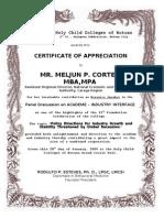 Certificate for the speaker meljun cortess hccb sample certificates of appreciation w border yadclub Choice Image