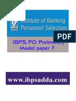 17176_IBPS PO Model Paper 7