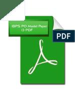 20901_IBPS PO Model Paper 13
