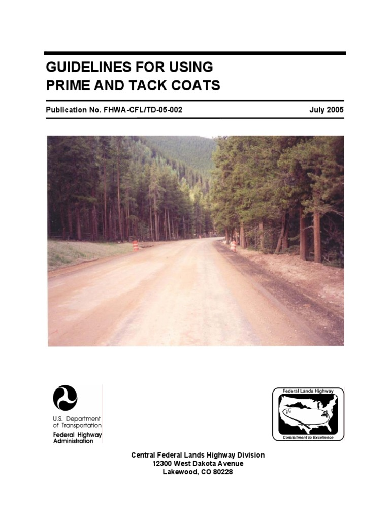 Guidelines for Using Prime and Tack Coats pdf | Volatile