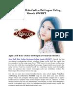 Situs Judi Bola Online Bettingan Paling Murah SBOBET