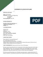 Suneet GD Pi Questionnaire