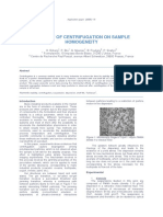 Application Paper on Centrifugation