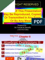Bab 6 Ungkapan Algebra III