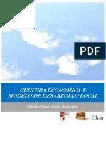 CULTURA ECONOMICA Y MODELO DE DESARROLLO LOCAL