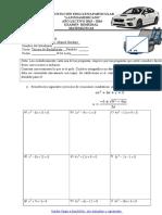 Examen Remedial de Matematicas Tercero de Bachillerato 2015-2016