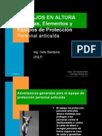 TRABAJOS en ALTURA-Sistemas, Elementos y Equipos de Protección Personal Anticaída
