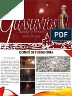 Guasuntos 2016 - Programa de fiestas