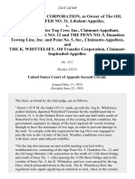 Oil Transfer Corporation, as Owner of the Oil Transfer No. 31, Libelant-Appellee v. The Cree, Motor Tug Cree, Inc., Claimant-Appellant, the Dauntless No. 12 and the Penn No. 5, Dauntless Towing Line, Inc. And Penn No. 5, Inc., Claimants-Appellees, and the K. Whittelsey, Oil Transfer Corporation, Claimant-Impleaded-Appellee, 224 F.2d 849, 2d Cir. (1955)