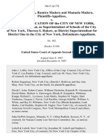 Victor Madera, Ramiro Madera and Manuela Madera v. Board of Education of the City of New York, Bernard E. Donovan, as Superintendent of Schools of the City of New York, Theresa S. Rakow, as District Superintendent for District One in the City of New York, 386 F.2d 778, 2d Cir. (1967)