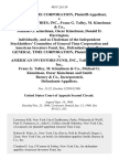 General Time Corporation v. Talley Industries, Inc., Franz G. Talley, M. Kimelman & Co., Michael G. Kimelman, Oscar Kimelman, Donald D. Harrington, Individually, and as Chairman of the Independent Stockholders' Committee of General Time Corporation and American Investors Fund, Inc., General Time Corporation v. American Investors Fund, Inc., Talley Industries, Inc., Franz G. Talley, M. Kimelman & Co., Michael G. Kimelman, Oscar Kimelman and Smith Barney & Co., Incorporated, 403 F.2d 159, 2d Cir. (1969)