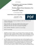 United States of America Ex Rel. Lawrence Condon, Relator-Appellant v. Daniel McMann Warden, Clinton Prison, Dannemora, New York, 417 F.2d 664, 2d Cir. (1969)