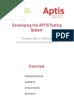 Developing the APTIS Testing System