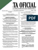 Gaceta Oficial Número 40.958 de la República de Venezuela, 03 de agosto de 2016