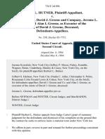 Herbert L. Hutner v. David J. Greene, David J. Greene and Company, Jerome L. Greene, and Alan I. Greene, as of the Estate of David J. Greene, Deceased, 734 F.2d 896, 2d Cir. (1984)