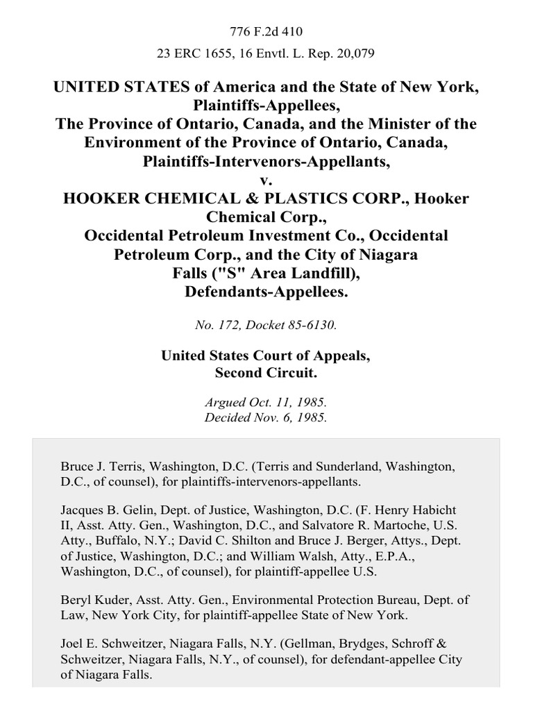 Soto tcpa settlement - United States Of America And The State Of New York The Province Of Ontario Canada And The Minister Of The Environment Of The Province Of Ontario Canada