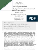 Tony P. Campos v. Eugene S. Lefevre, Superintendent, Clinton Correctional Facility, 825 F.2d 671, 2d Cir. (1987)