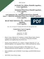Curtis J. Adkins and Randy Sue Adkins, Cross-Appellants v. Anna v. Trezins, Defendant/third-Party Cross-Appellee, and Arlo Industries, Inc., Defendant/third-Party Anna v. Trezins, Defendant/third Party Cross-Appellee v. Bear Tree Service, Inc., Third-Party Cross-Appellee, 920 F.2d 164, 2d Cir. (1990)