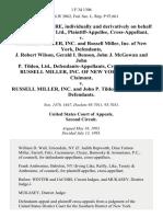 Richard A. McGuire Individually and Derivatively on Behalf of John P. Tilden, Ltd. v. Russell Miller, Inc. And Russell Miller, Inc. Of New York, J. Robert Wilson, Gerald I. Benson, John J. McGowan and John P. Tilden, Ltd., Russell Miller, Inc. Of New York, Counter-Claimant v. Russell Miller, Inc. And John P. Tilden, Ltd., Counter-Defendants, 1 F.3d 1306, 2d Cir. (1993)