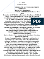 In Re Joint Eastern and Southern District Asbestos Litigation (Two Cases). In Re Johns-Manville Corporation, Debtor (Two Cases). Bernadine K. Findley, as of the Estate of Hilliard Findley, Uma Lail Caldwell, as of the Estate of Odell Caldwell, Joseph C. Jones, James William Barnette, Jr., on Behalf of Themselves, and All Others Similarly Situated as Beneficiaries of the Manville Personal Injury Settlement Trust, Edward Lindley, Class, Future Leslie Gordon Fagen, as Legal Representative of Future on Behalf of Future of the Manville Personal Injury Settlement Trust and the Subclass of Present Maryland Plaintiffs-Intervenors-Appellees, United States Fidelity and Guaranty Company, Plaintiff-Intervenor-Appellant, Porter-Hayden Co., a Member of the Distributor Subclass, Intervenor-Appellant, Owens-Corning Fiberglass Corporation and Subclass 3, Consisting of All Beneficiaries of the Manville Trust Who, as Former Producers, Manufacturers, Distributors, And/or Installers of Asbestos and Asbesto
