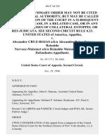United States v. Alexander Cruz-Rojas A/K/A Alexander Rojas-Cruz Reinaldo Narvaez-Maisonet A/K/A Reinaldo Maisonet-Narvaez, 104 F.3d 354, 2d Cir. (1996)
