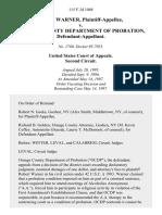 Robert Warner v. Orange County Department of Probation, 115 F.3d 1068, 2d Cir. (1997)