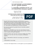Emi Catalogue Partnership and Emi Robbins Catalog Inc. v. Hill, Holliday, Connors, Cosmopulos Inc. And Spalding Sports Worldwide, 228 F.3d 56, 2d Cir. (2000)