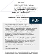 Environmental Defense v. United States Environmental Protection Agency, Christine Todd Whitman, Administrator, U.S. Environmental Protection Agency, State of New York, Intervenor, 369 F.3d 193, 2d Cir. (2004)