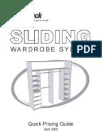SMARTPACK Quick Pricing Guide for Sliding Wardrobe April 2010