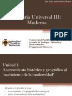Unidad 1 Acercamiento Histórico y Geográfico Al 'Nacimiento de La Modernidad' (Avances)
