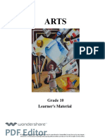 Grade 10 Arts LM 1