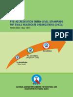 Guidebook for Preacc Entrylevelstandards SHCO