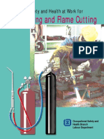 Gas welding and flame