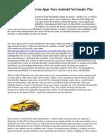 Como Desenhar Carros Apps Para Android No Google Play