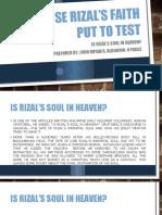 Jose Rizal's Faith Put to Test