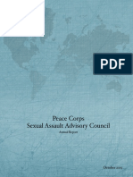 PEACE CORPS SEXUAL ASSAULT ADVISORY COUNCIL PCAC Annual Report 2015