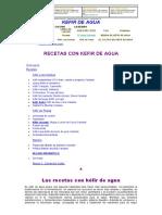 Kefir de Agua - Recetas