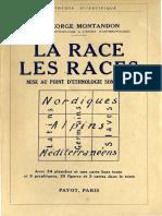 Montandon George - La Race Des Races