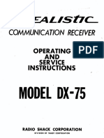 DX-75 (Operating & Service Instructions)